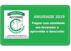 ANUIDADE 2019 APROVEITE O DESCONTO!
