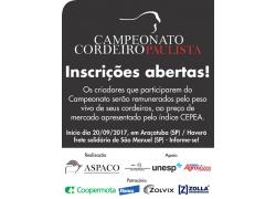 CAMPEONATO CORDEIRO PAULISTA 20/09/2017  PARTICIPE!
