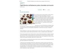CAPRIL RANCHO DAS VERTENTES  DE BARBACENA, JUNTOU CHOCOLATE COM BOURSIN