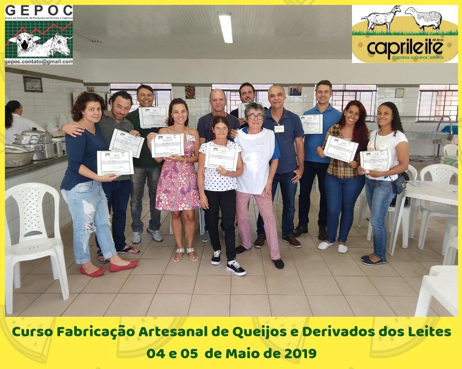 CURSO DE DERIVADOS DO LEITE FIM DE SEMANA 04 E 05/05/19
