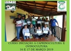 CURSO DE INICIAÇÃOFIM DE SEMANA 16 E 17/03/19