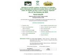 CURSO FABRICAÇÃO ARTESANAL DE QUEIJOS E DERIVADOS DOS LEITES DE CABRA,OVELHA E VACA PORTO FELIZ/SÃO PAULO 26 e 27 DE OUTUBRO DE 2019