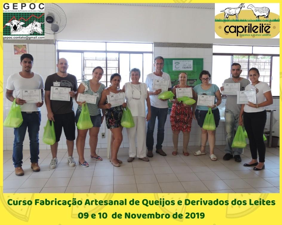 Curso Fabricação Artesanal de Queijos e Derivados dos Leites de CabraOvelha e Vaca 09 E 10/11/19
