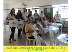 CURSO FABRICAÇÃO ARTESANAL DE QUEIJOS E DERIVADOS DOS LEITES DE CABRAOVELHA E VACA18 e 19/03/17