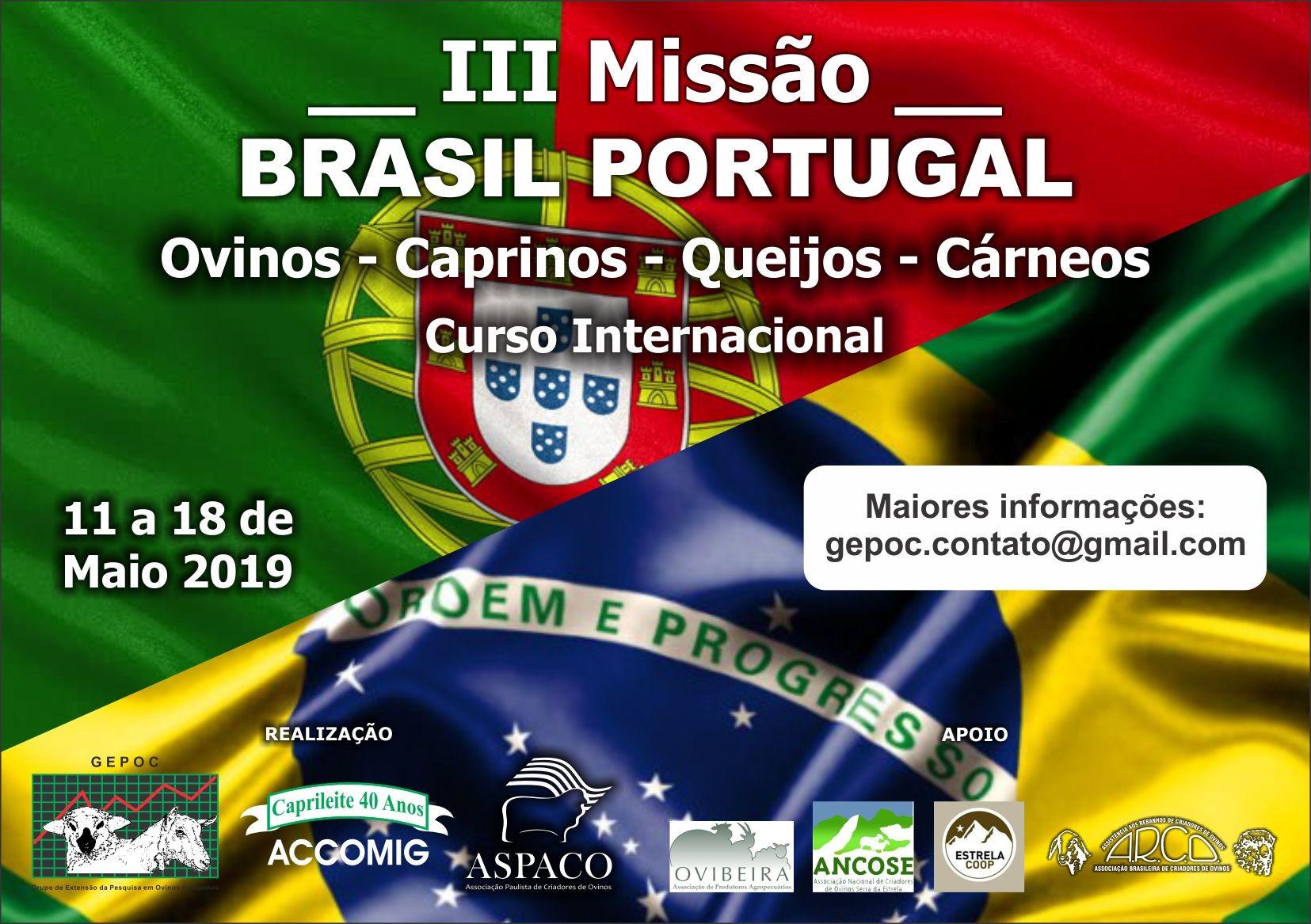 III MISSÃO BRASIL PORTUGAL 11 a 18 DE MAIO DE 2019 PARTICIPE!