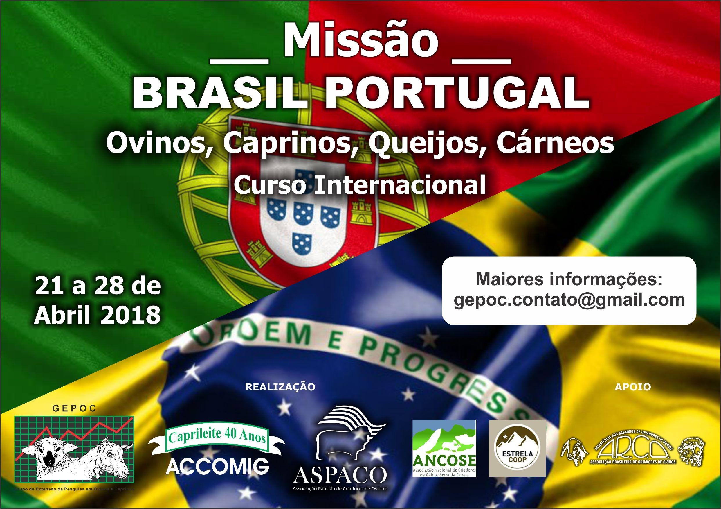 MISSÃO BRASIL PORTUGAL 21 a 28 de abril de 2018 PARTICIPE!