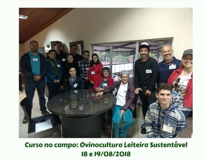 O Curso no campoOvinocultura Leiteira Sustentável 18 E 19/08/18 foi um sucesso!