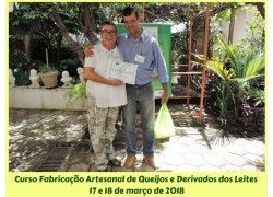CURSO FABRICAÇÃO ARTESANAL DE QUEIJOS E DERIVADOS DOS LEITES DE CABRA,OVELHA E VACA17 e 18/03/2018