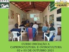 CURSO INICIAÇÃO A CAPRINOCULTURA E OVINOCULTURA TIPO LEITECORTE E MISTA02 e 03/10/2021