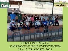CURSO INICIAÇÃO A CAPRINOCULTURA E OVINOCULTURA TIPO LEITECORTE OU MISTADias 14 e 15/08/2021