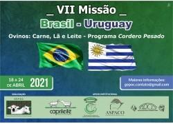 VII MISSÃO BRASIL - URUGUAY 18 a 24/04/2021